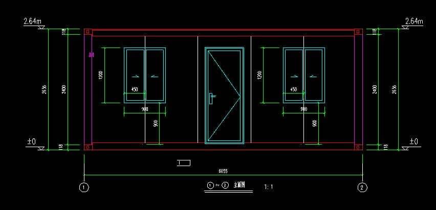 集装箱房屋立面设计图