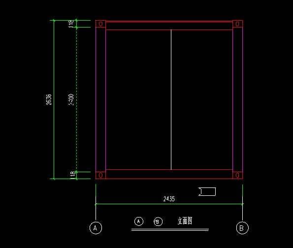 箱房2.4米立面CAD设计图