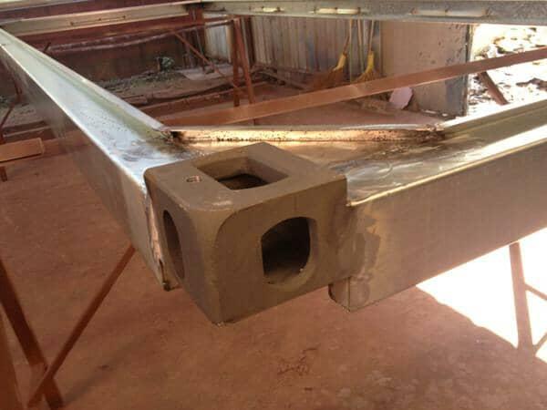 顶部框架焊接效果图