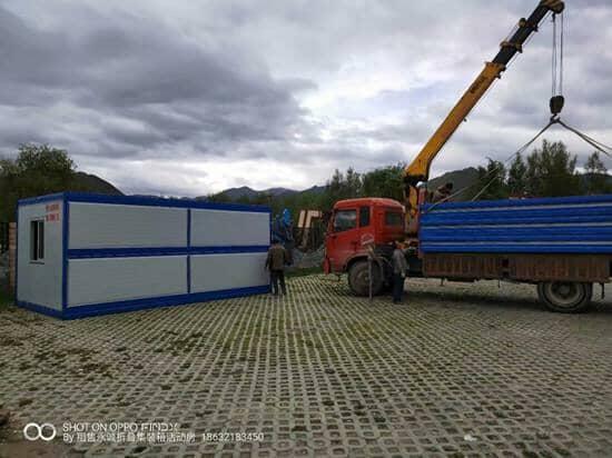 折叠箱房吊装卸车图