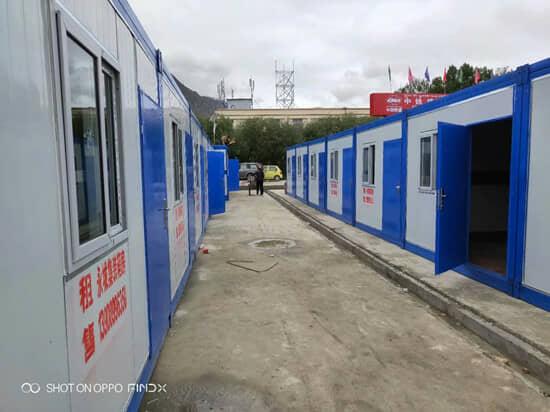 两排租赁型折叠集装箱活动房图