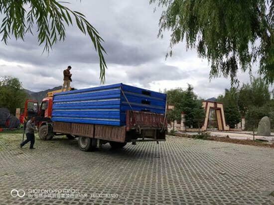 6米的货车一车装4个折叠箱房图