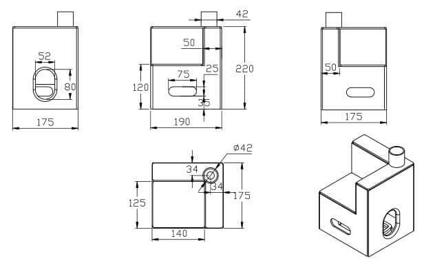 箱房顶角件外形设计图