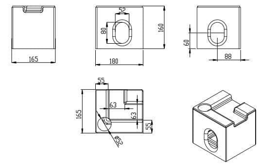 箱房底角件外形设计图