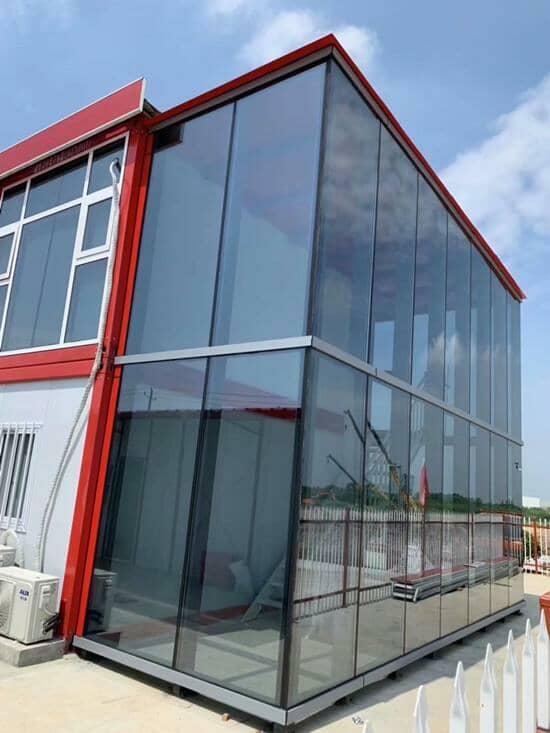 双层打包式集装箱活动房走廊外墙图