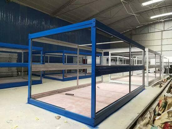 桑日县折叠集装箱活动房框架图