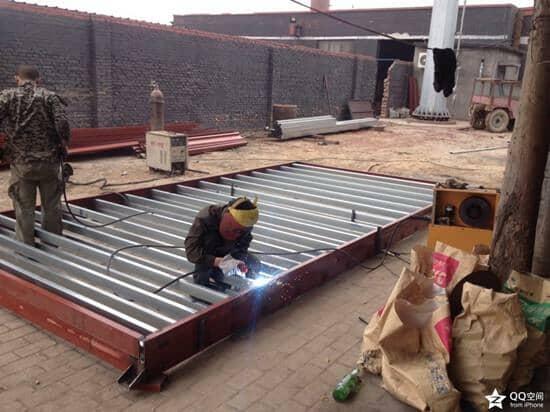 住人集装箱底部钢架焊接图