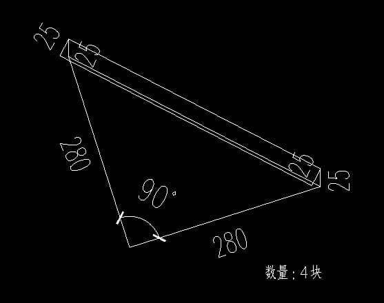 集装箱房顶部四个角件三角铁板设计图