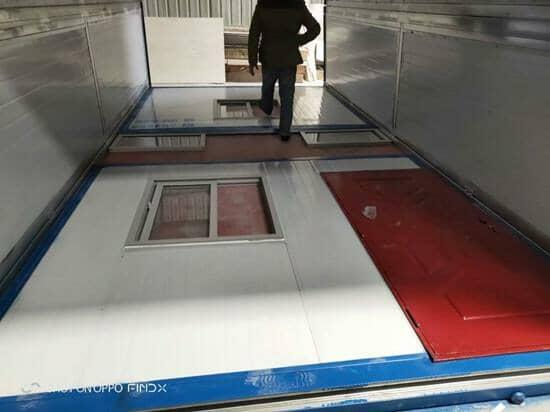 折叠集装箱活动房3米开窗开门面折叠放倒效果图