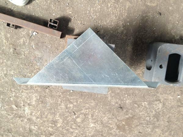 三角钢板平面效果设计图