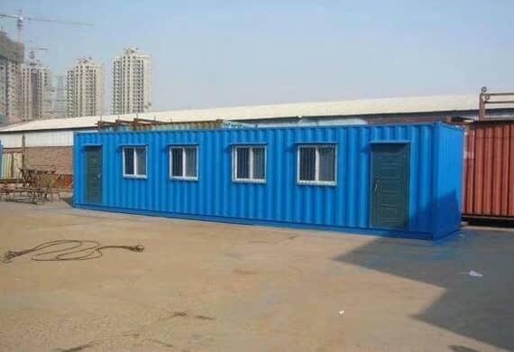 蓝色焊接式集装箱活动房图