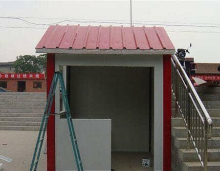 白墙红顶5平方米彩钢活动房图