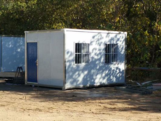12平方米的集装箱活动房侧面图