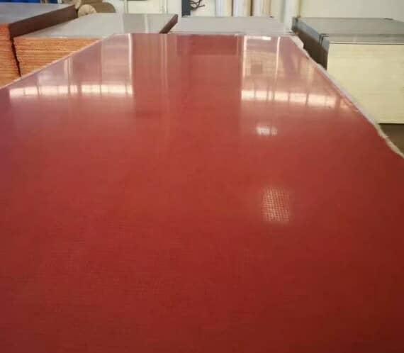 枣红色的釉面集装箱活动房防火地板图