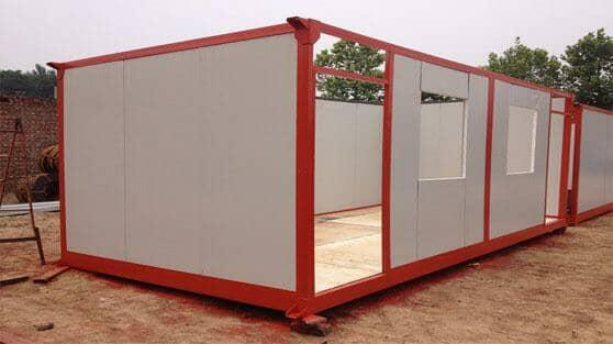 住人集装箱活动房安装墙面板图