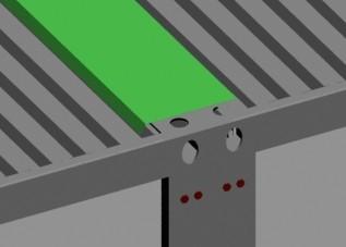 连栋集装箱活动房顶部连接之处顶盖密封图