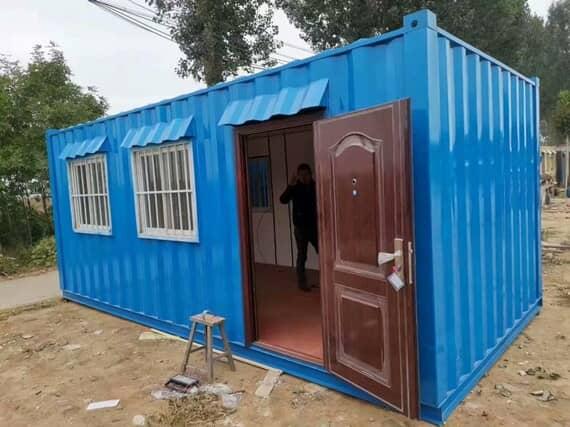 蓝色焊接式集装箱房住所图