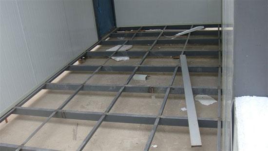 吊装式活动房底部钢架图