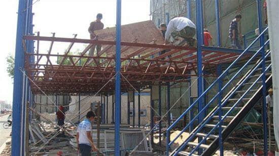活动板房拆除地板图
