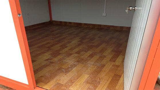 住人集装箱活动房室内地板图