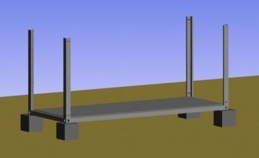 打包集装箱活动房安装角柱图