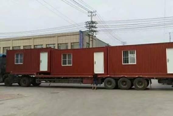 红色钢板焊接式集装箱活动板房图