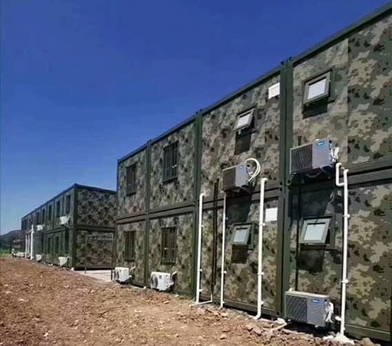 双层军营住人集装箱房图