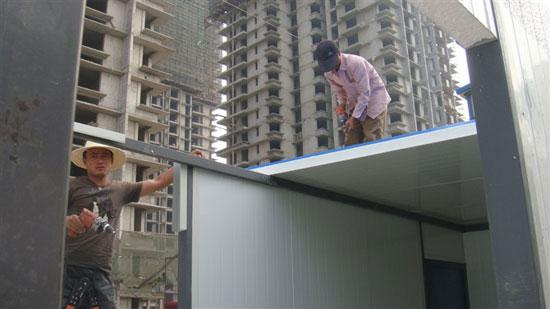 吊装式活动房顶部彩钢板图