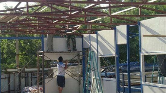 活动板房拆除屋顶板图