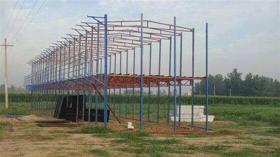 双层K式活动房框架结构图