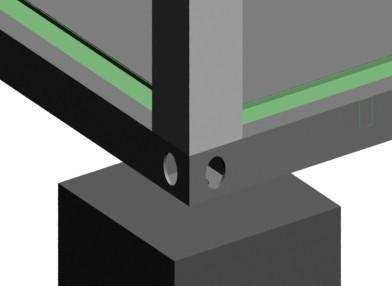 集装箱活动房角件放置在基础上图