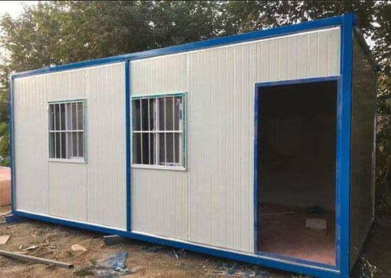 6米面开门的住人集装箱活动房图