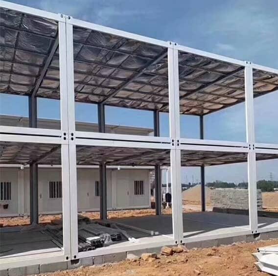 双层集装箱房住所框架结构图