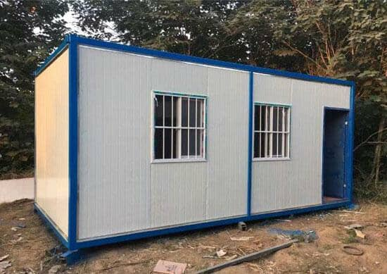 6米面一门两窗住人集装箱活动房图