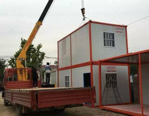 箱式活动房可以堆放二层或三层
