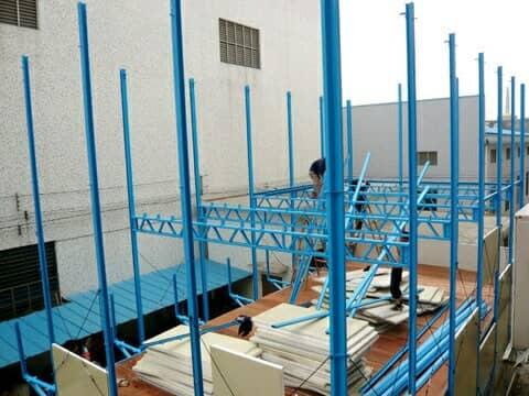 板房安装走廊支架图