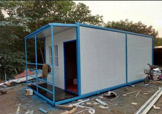 二层带走廊带雨蓬式住人集装箱活动房图