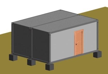 连栋集装箱活动房顶部图