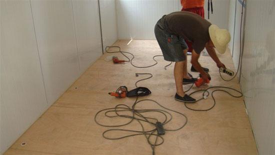 吊装式活动房室内地板图