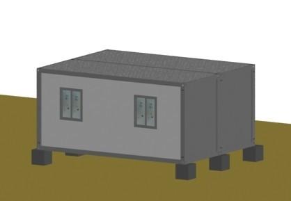 连栋集装箱活动房侧面图