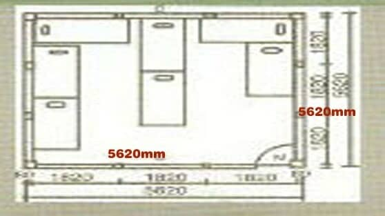 3K×3K(即:纵深5620mm×5620mm)图