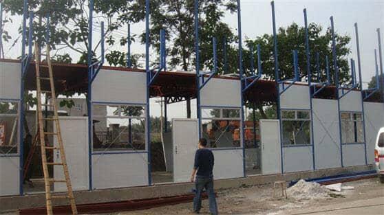三层彩钢活动房图