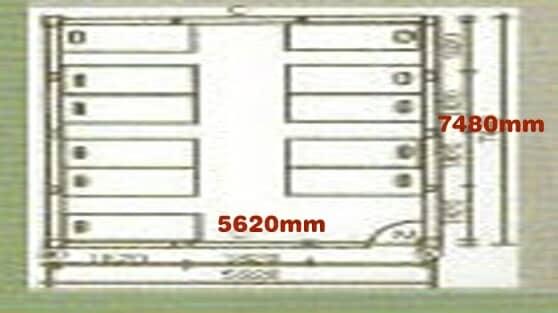 3K×4K(即:纵深5620mm×7248mm)图