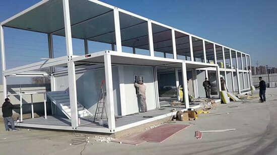 二层带封闭式走廊拼装式阿里集装箱活动房