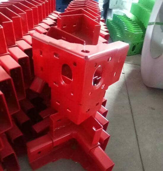 红色集装箱活动房吊件图