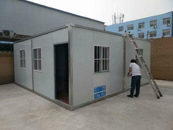 两间组合式办公室集装箱活动房图