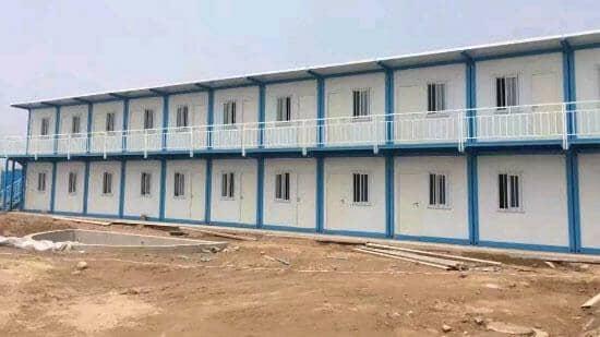 蓝色二层拆装式集装箱活动房