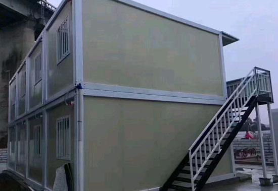 二层拼装式集装箱活动房图