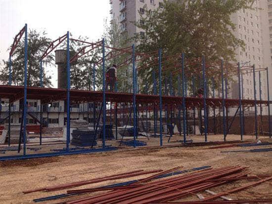 二层拆装式活动板房框架