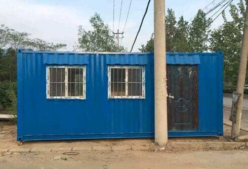 拉萨达孜区瓦楞钢板集装箱活动房图